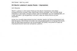 CD Martin Lubenov's Jazzta Prasta - Impressions (image)