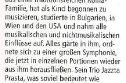 Martin Lubenov's Jazzta Prasta (article)